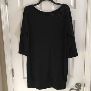🌺 Bling! NY &Co. black knit dress size Medium
